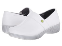 Work Wonders By Dansko Camellia White Leather Women's Clog Shoes