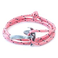 Anchor And Crew Bruce Rope And Silver Bracelet Solid Pink