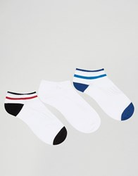 Pringle Sports Style Trainer Sock In 3 Pack White