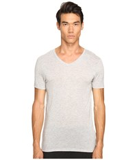 Atm Anthony Thomas Melillo Modal V Neck T Shirt Heather Grey Men's T Shirt Gray