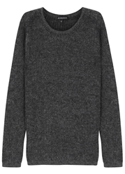 Ann Demeulemeester Charcoal Alpaca And Wool Blend Jumper