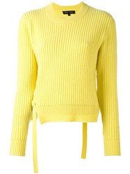 Proenza Schouler Lace Up Detail Jumper Yellow And Orange
