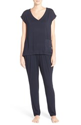 Midnight By Carole Hochman Women's Satin Trim Pajamas