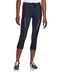 Y.A.S Textured Active Leggings Blue
