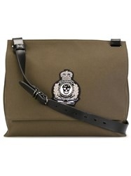 Alexander Mcqueen Skull Patch Messenger Bag Green