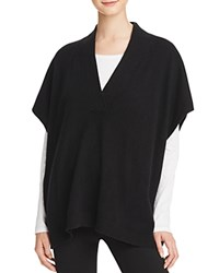 Bloomingdale's C By Cashmere Poncho Sweater Black