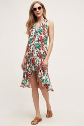 Anthropologie Vix Charlotte Beach Dress Red Motif S Swimwear