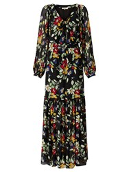 Alice By Temperley Somerset Vintage Floral Print Maxi Dress Black
