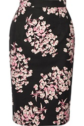 Jonathan Saunders Axel Floral Print Stretch Cotton Pencil Skirt