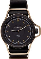 Givenchy Black And Gold Seventeen Watch