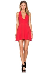 Nbd X Naven Twins Just You Fit And Flare Dress Red