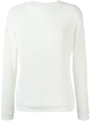 Dkny Pure Boat Neck Knitted Jumper White