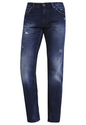 Tom Tailor Denim Atwood Straight Leg Jeans Destroyed Mid Stone Wash Blue Denim