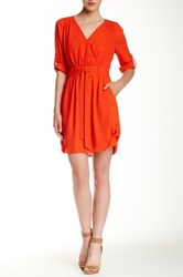 Daniel Rainn Woven Dress Red