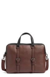Ted Baker Men's London Alvaro Briefcase Brown Chocolate