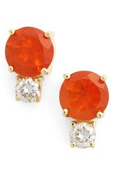 Jemma Wynne Women's Fire Opal And Diamond Stud Earrings