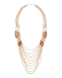 Nakamol Long Multi Strand Pastel Crystal And Stone Necklace Women's