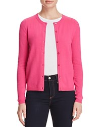 Bloomingdale's C By Crewneck Cashmere Cardigan Electric Pink