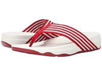 Fitflop Surfa Classic Red Urban White Women's Sandals