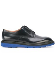Paul Smith Contrast Sole Derby Shoes Blue