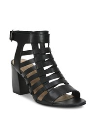 Tahari Avid Leather Cage Sandals Black
