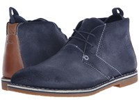 Steve Madden Syrio Navy Suede Men's Lace Up Boots Blue