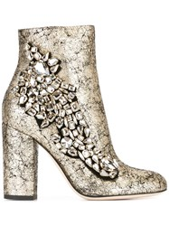 Gedebe 'Arielle' Ankle Boots Metallic