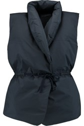 James Perse Padded Shell Gilet Storm Blue