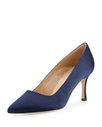 Manolo Blahnik Bb Satin 70Mm Pump Navy