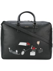 Dolce And Gabbana Sicilian Man Patch Holdall Black