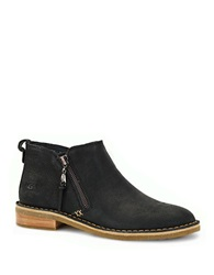 Ugg Clementine Shearling Lined Leather Booties Black