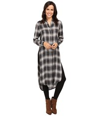Fate Plaid Maxi Shirt Olive Women's Clothing