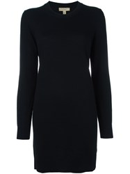 Burberry Elbows Patch Knitted Dress Black