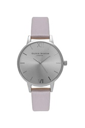 Topshop Olivia Burton Midi Dial Grey Lilac And Silver Watch