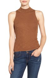 Sun And Shadow Women's Mock Neck Knit Tank