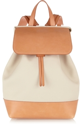 Mansur Gavriel Canvas And Leather Backpack