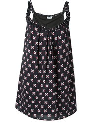 Au Jour Le Jour Cross Print Dress Black