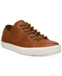 Frye Men's Brett Low Top Sneakers Men's Shoes Cognac