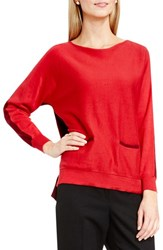 Vince Camuto Women's Colorblock Boatneck Cotton Blend Sweater