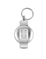 Bugatti Eb Limited Edition Silver Plated Key Ring
