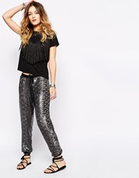 Free People Sequin Jogger Grey