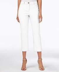 Charter Club Straight Leg Cropped Pants Only At Macy's Bright White