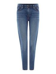 Levi's 505 High Rise Straight Leg Jean Denim Light Wash
