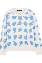Perfect Moment Printed Cotton Terry Sweatshirt White