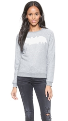 Zoe Karssen Bat Pullover Sweatshirt Heather Grey
