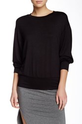 Riller And Fount Long Sleeve Drop Shoulder Sweatshirt Black