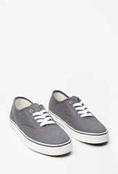 Forever 21 Classic Canvas Plimsolls Dark Grey