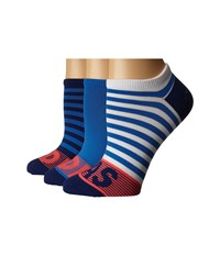 Adidas Adistripe 3 Pack No Show White Ray Blue Unity Ink Purple Shock Red Women's No Show Socks Shoes Multi