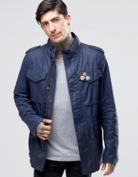 Pretty Green Field Jacket In Navy Navy