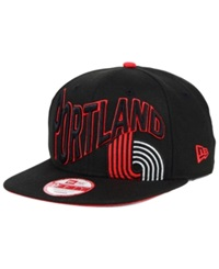 New Era Portland Trail Blazers Hwc Neon Wave 9Fifty Snapback Cap Black Red
